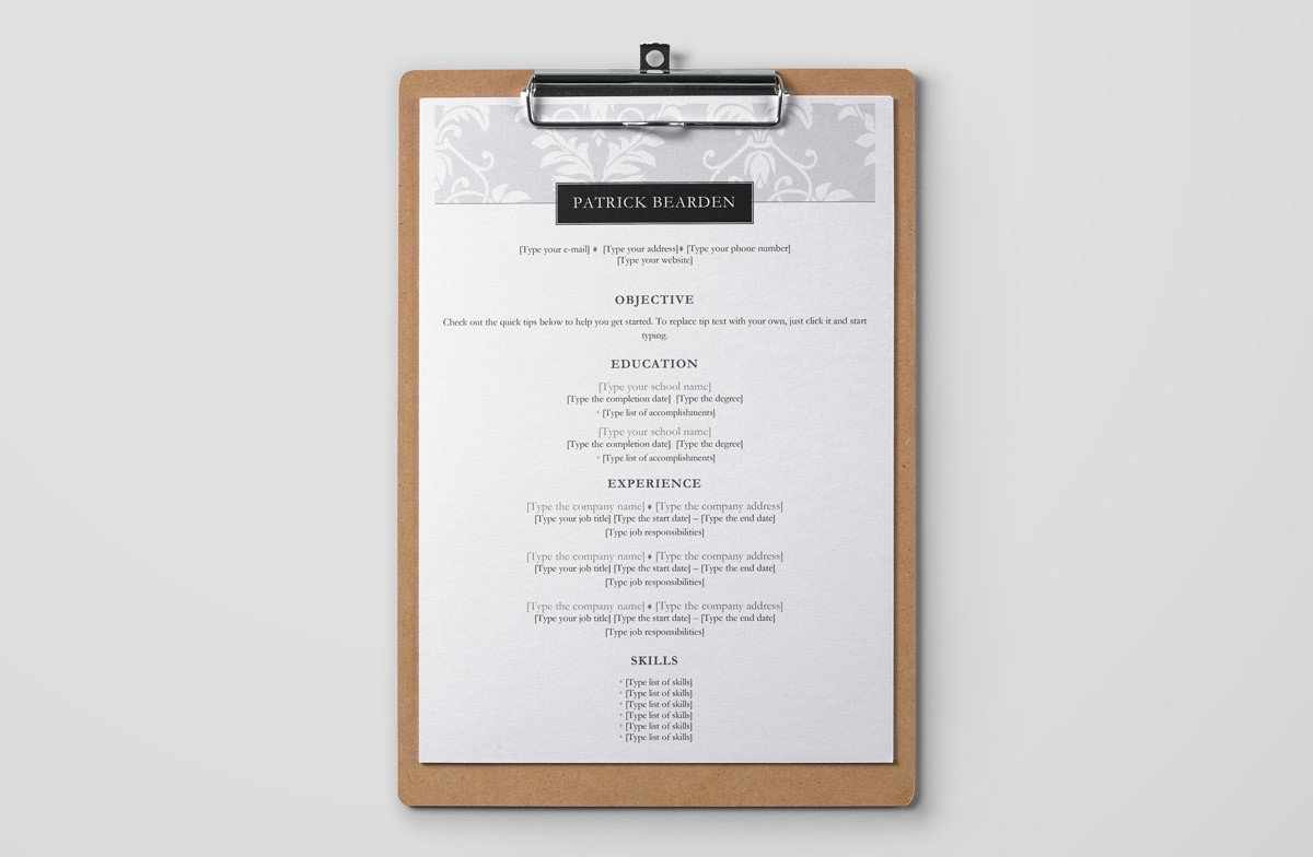 Resume Templates for Word (FREE): 15+ Examples for Download