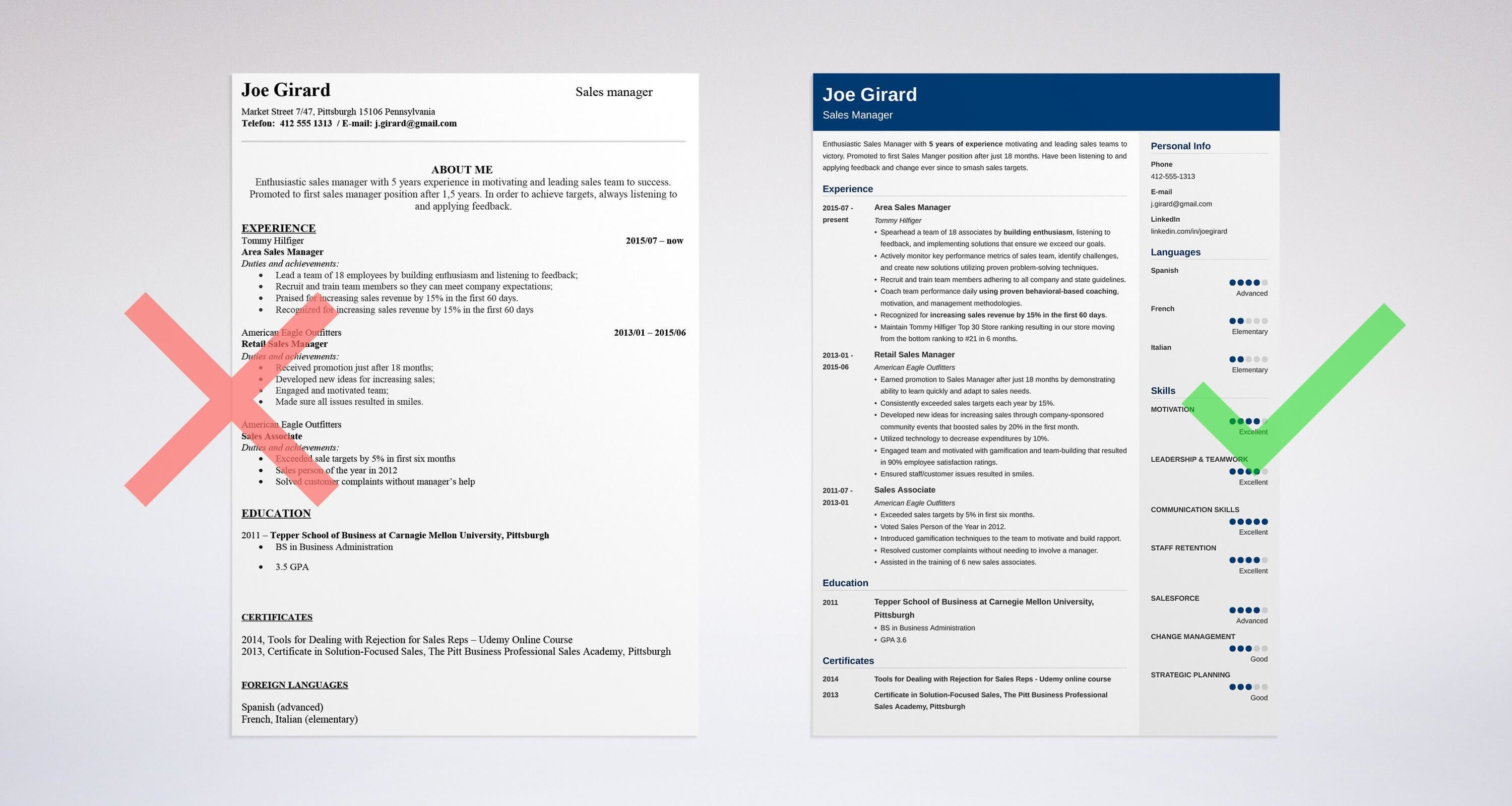 Manager Resume Format Sales Manager Resume Sample Complete Guide 20 Examples