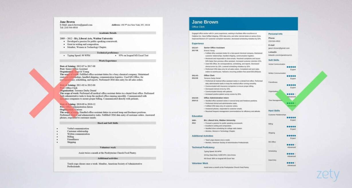 Office Clerk Resume: Sample & Writing Guide [20+ Examples]
