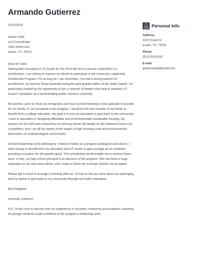 Cover Letter for Scholarship Application (Template & 26 Tips)
