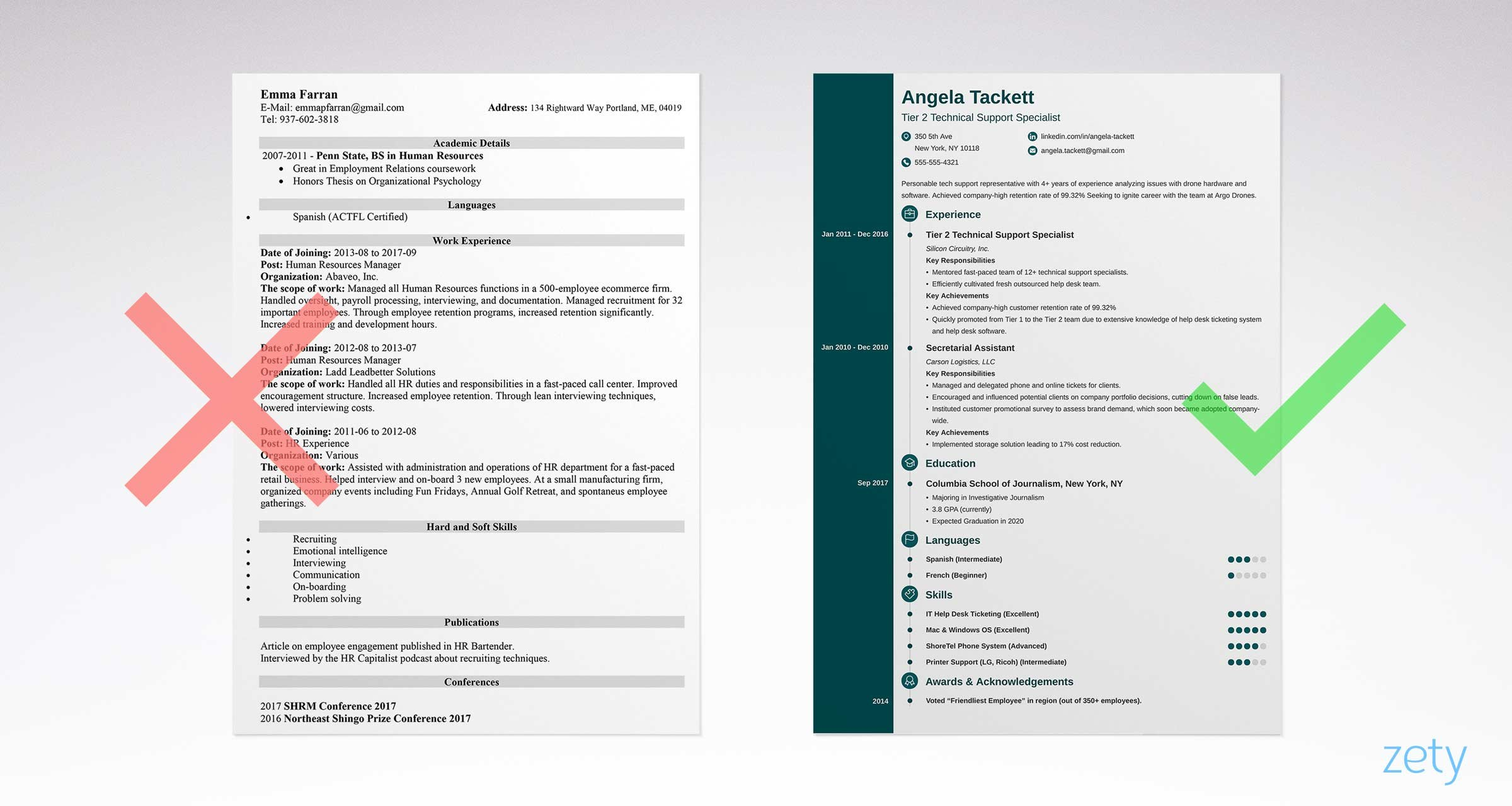 Simple Resume Format Simple Resume Templates 15 Examples To Download And Use Now