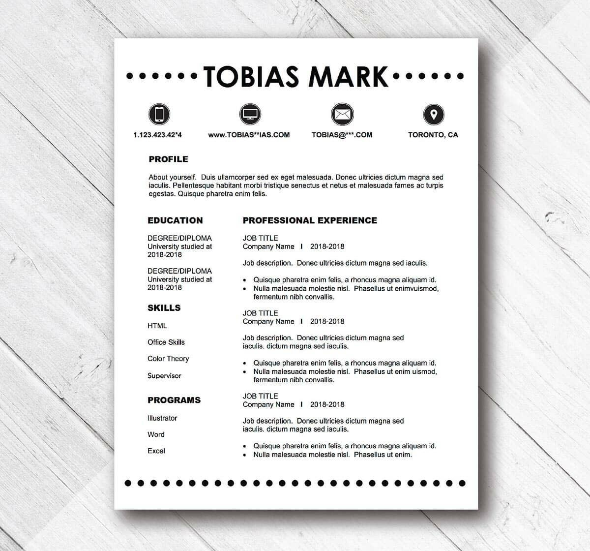 Simple Resumes Examples Simple Resume Templates 15 Examples To Download Use Now