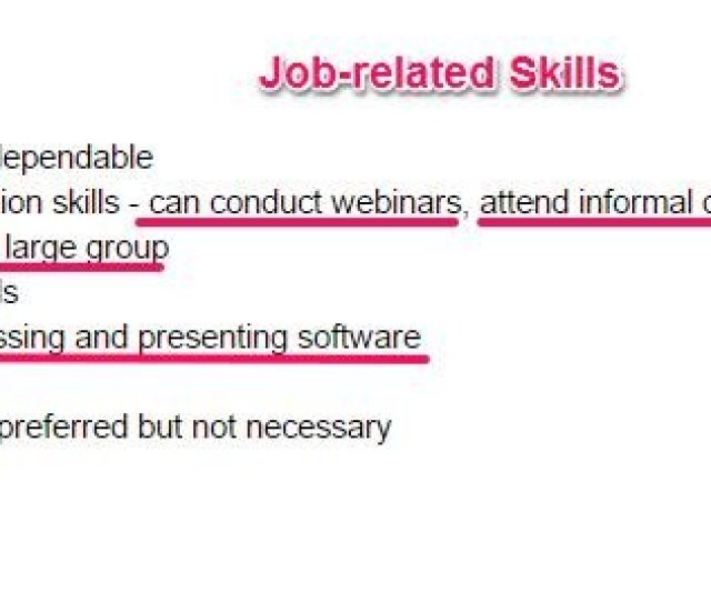 Step  You Should Have Most Of These Key Skills Otherwise You Wont Be Able To Do The Job