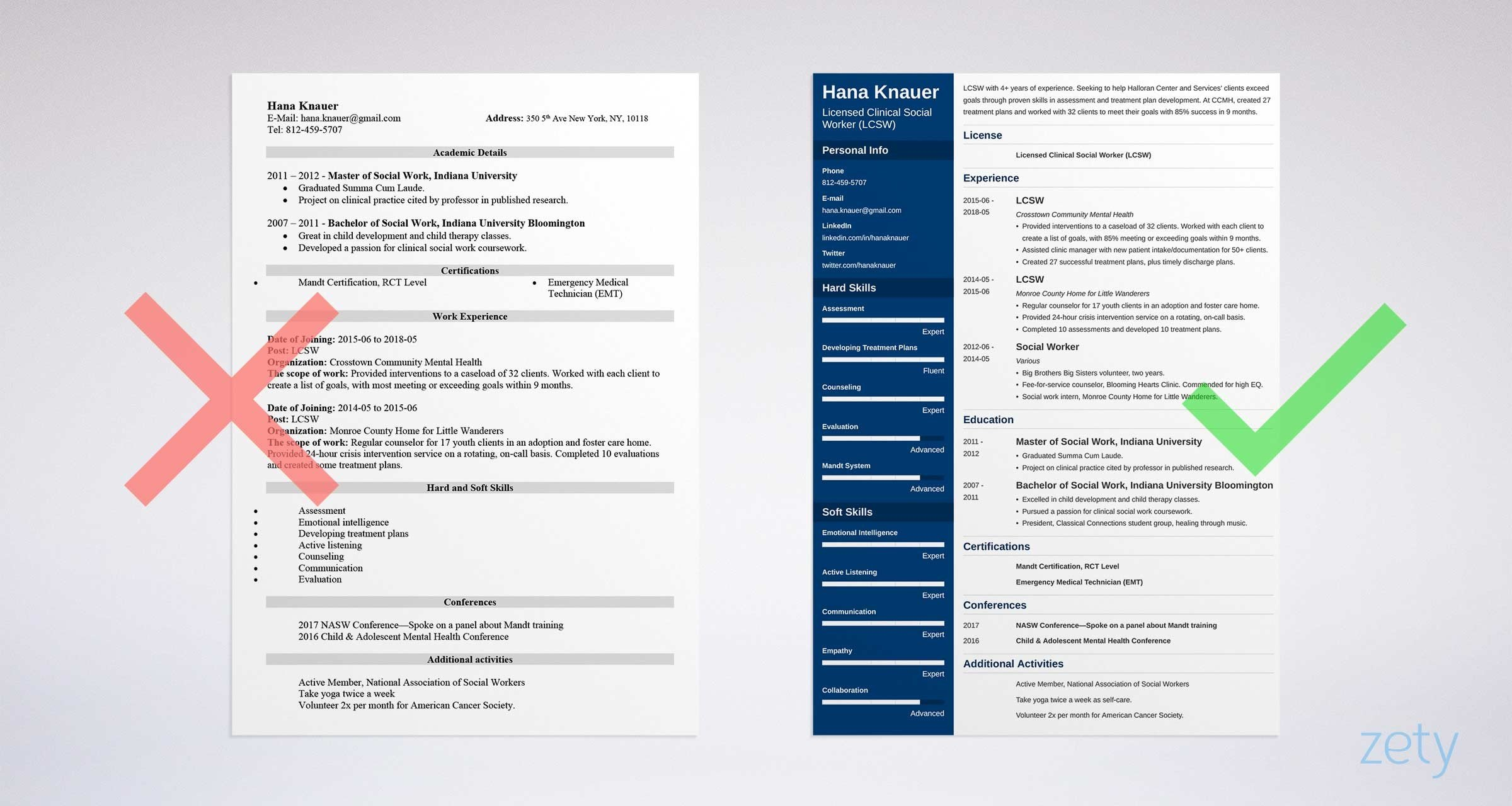 Social Work Resume Examples For A Social Worker 20 Tips