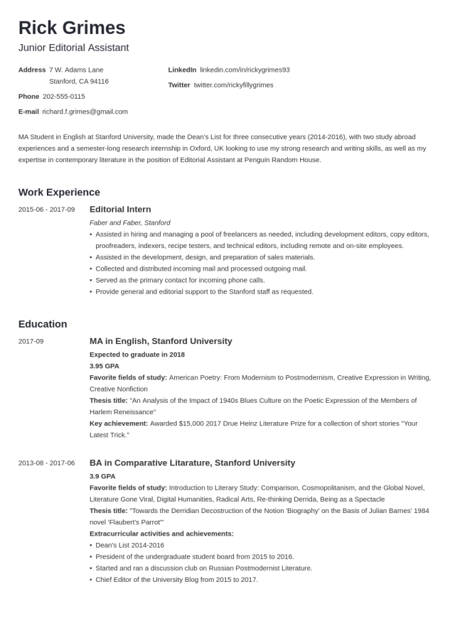 22+ Student Resume Examples & Templates for All Students
