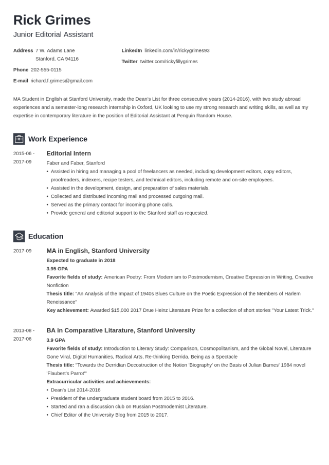 28+ Student Resume Examples & Templates for All Students