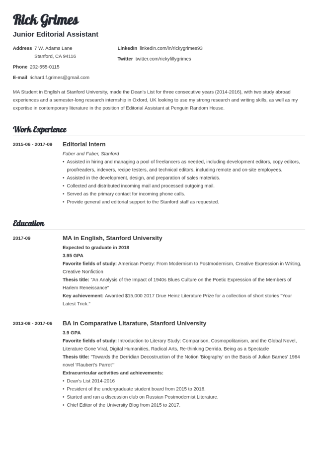 19+ Student Resume Examples & Templates for All Students