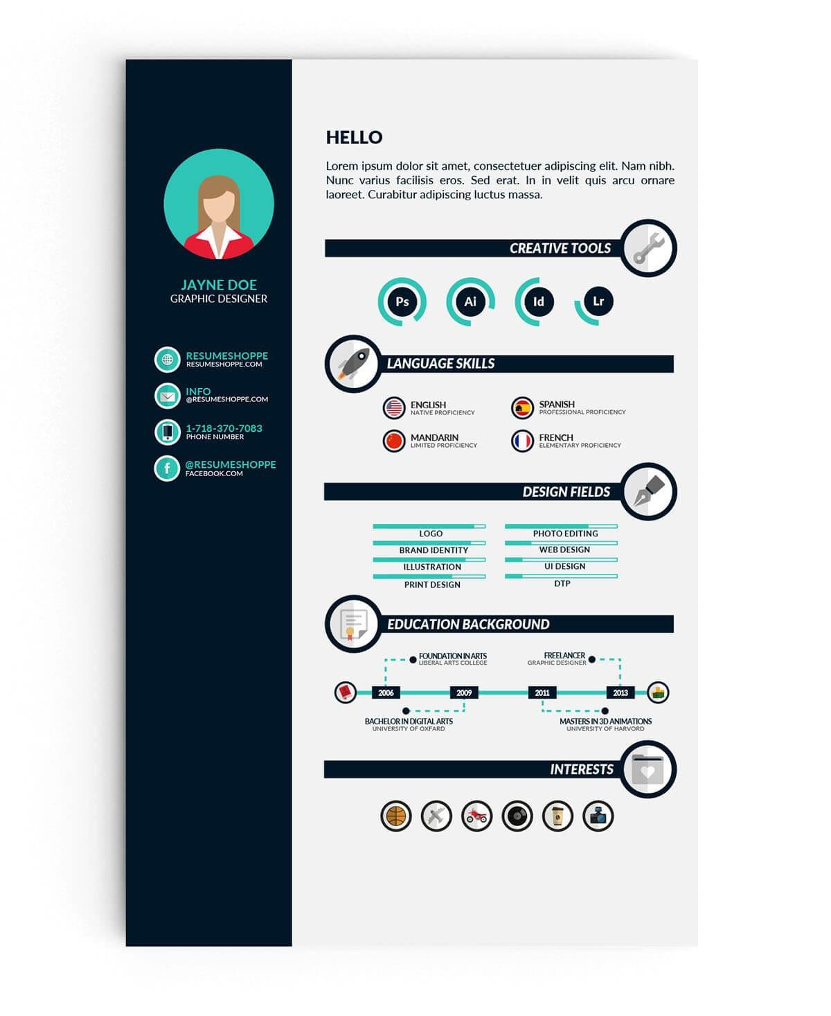 Infographic Student Resume Template