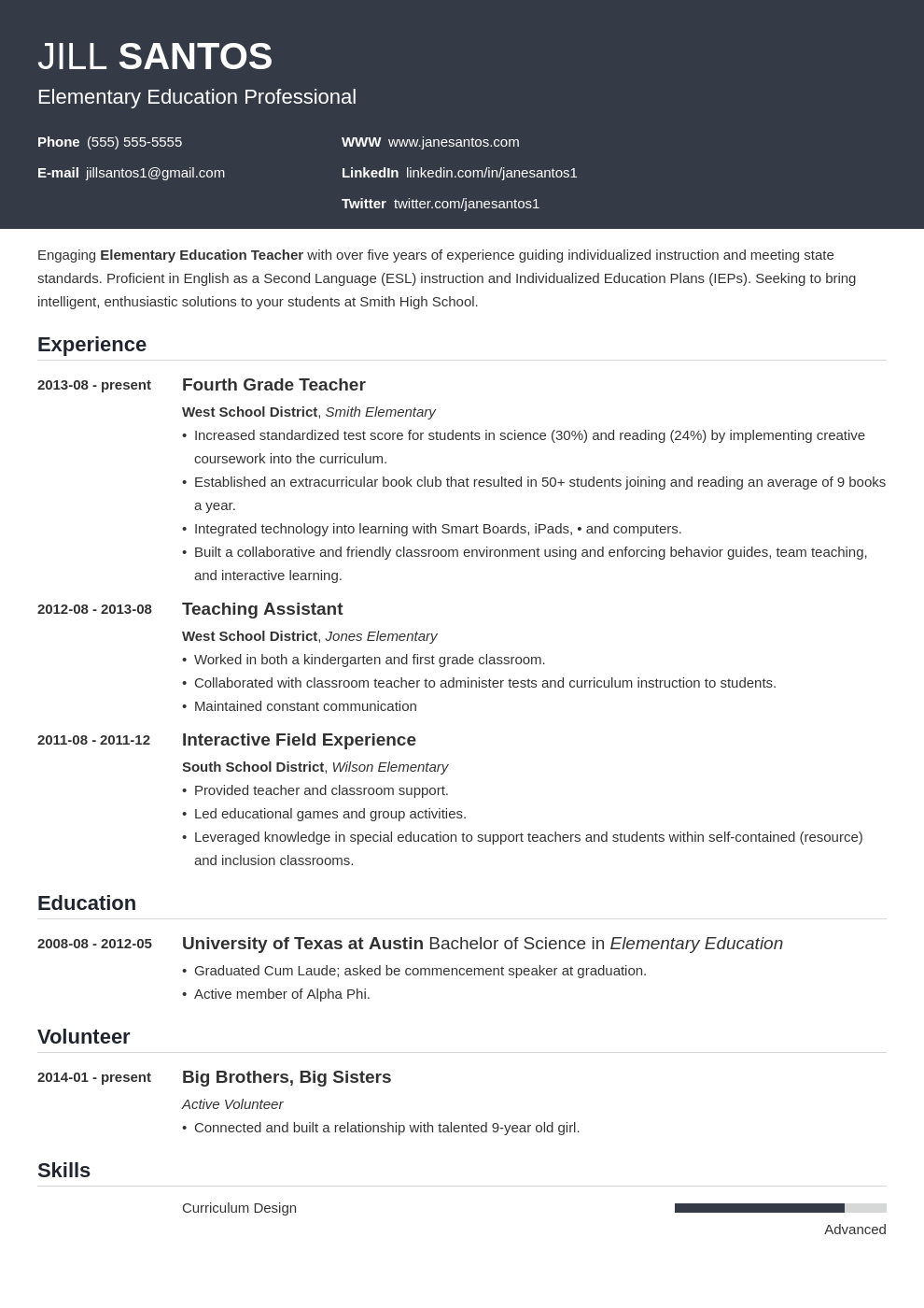 Teaching Resume Templates Teacher Resume Template Guide 20 Examples For Teaching Jobs