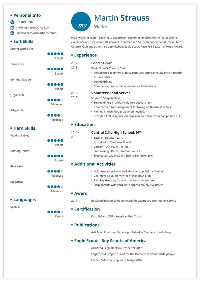 How To Make A Resume For Teenagers Resume Examples For Teens Templates Builder Writing Guide Tips