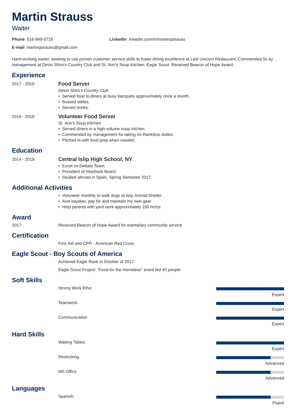 Resume Template First Job Resume Examples For Teens Templates Builder Writing Guide Tips