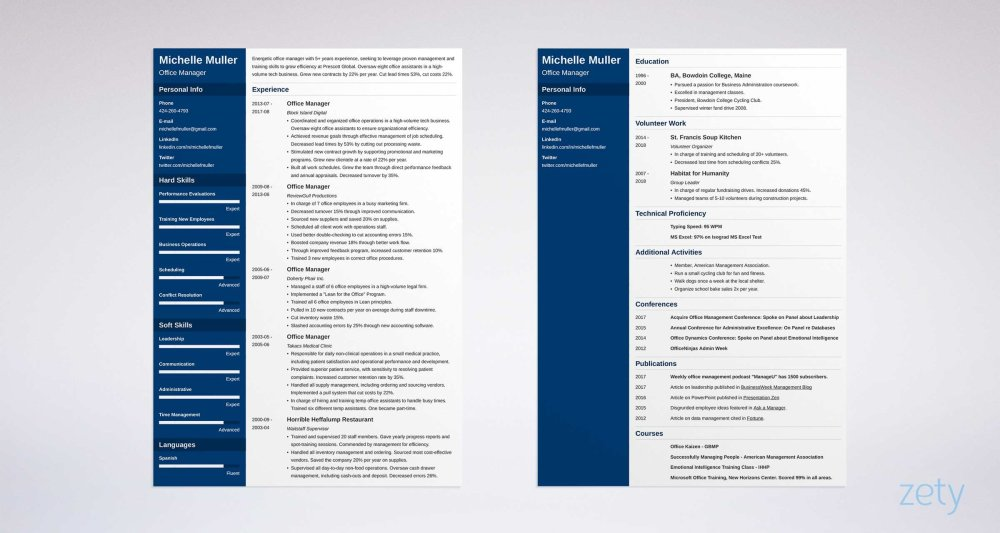 medium resolution of 2 page resume facts