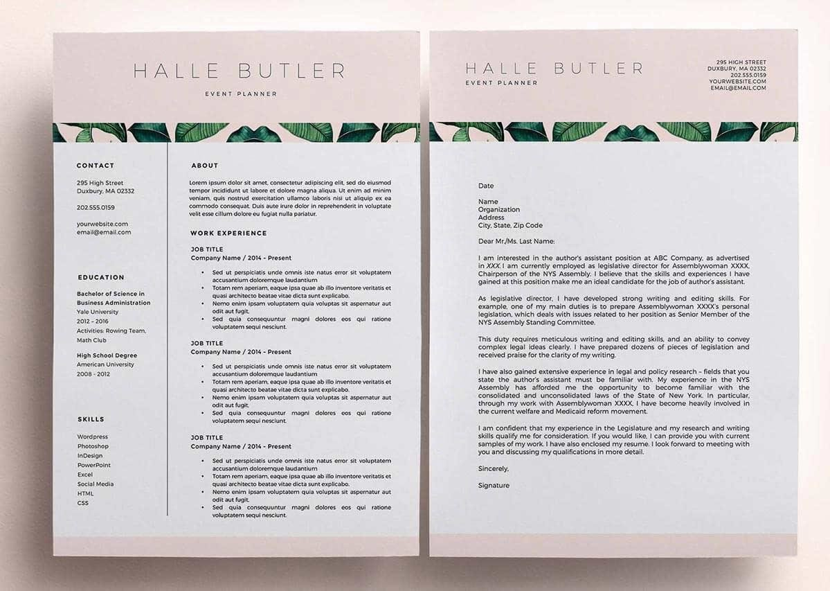 resume layouts and templates for management