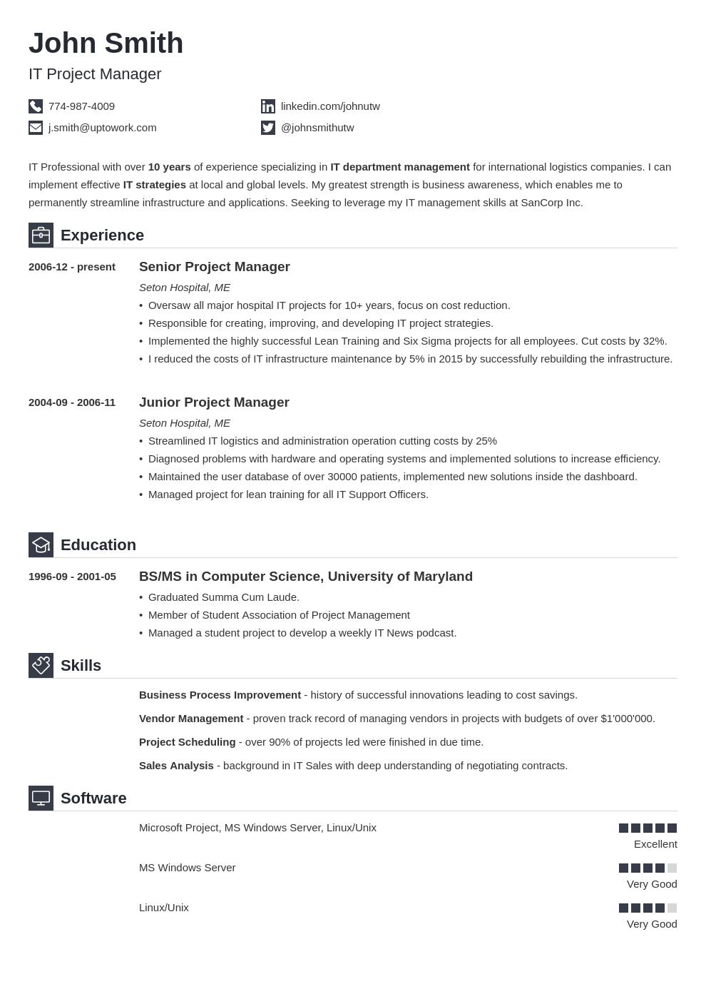 primo resume templates