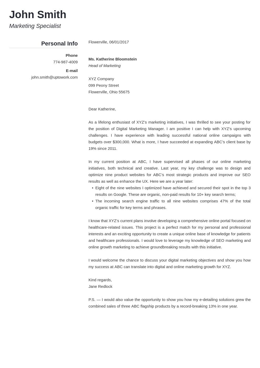 Professional Resume Template Simple
