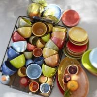 Colorful Tapas Dinnerware from Pottery Barn