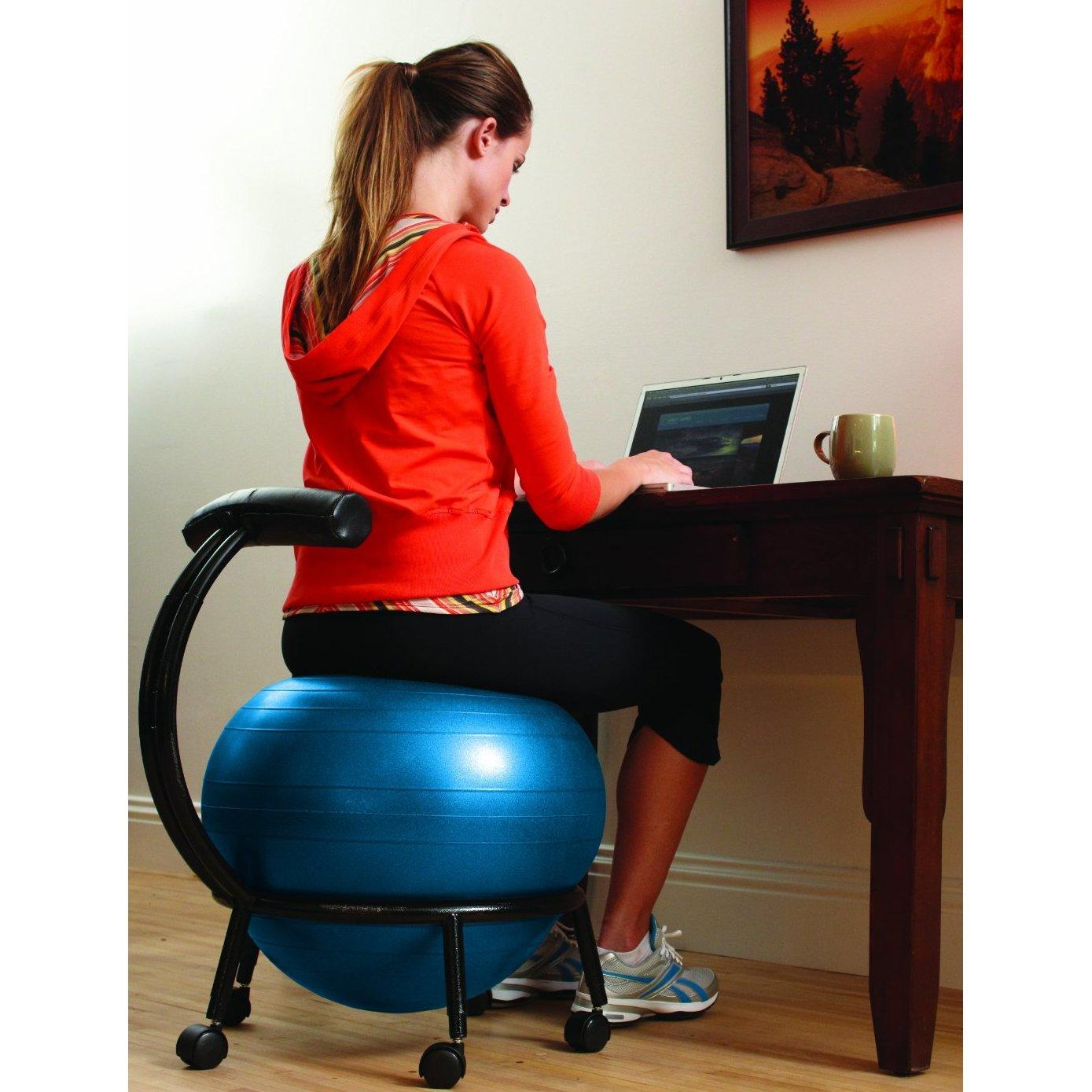 Gaiam Yoga Ball Chair Gaiam Custom Fit Adjustable Balance Ball From Amazon Health
