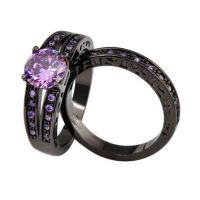 Best Black Gold Amethyst Engagement Rings Products on Wanelo