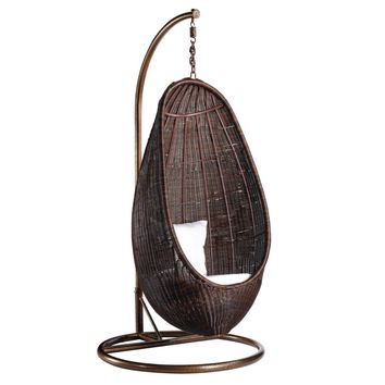 hanging chair notonthehighstreet old wicker chairs best rattan products on wanelo fine mod imports with stand chocolate ratt