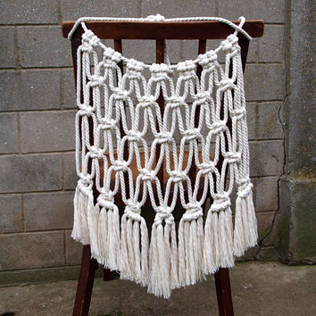 wedding chair covers for bride and groom golden lift stuck in up position best products on wanelo boho cover macrame back wall hanging decoration