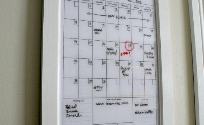 Wall Decor White Dry Erase Calendar From Rozemake On Etsy