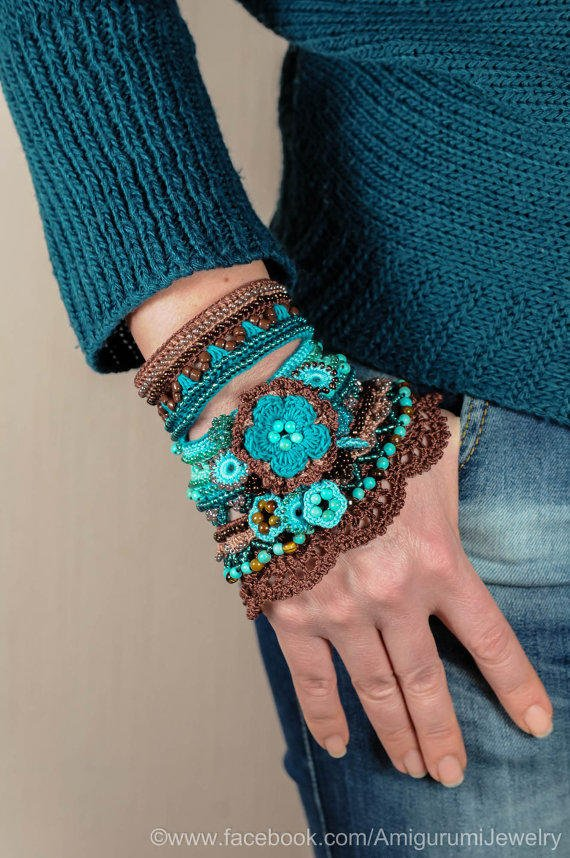 Brown Cappuccino Blue Mint Turquoise from KaterinaDimitrova on