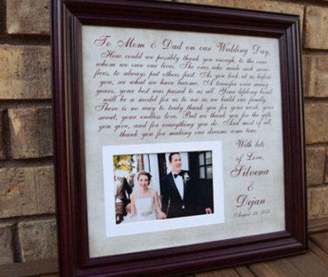 Thank You Wedding Parents Gifts Parents Gift Grooms Parents Bride Parents Wedding
