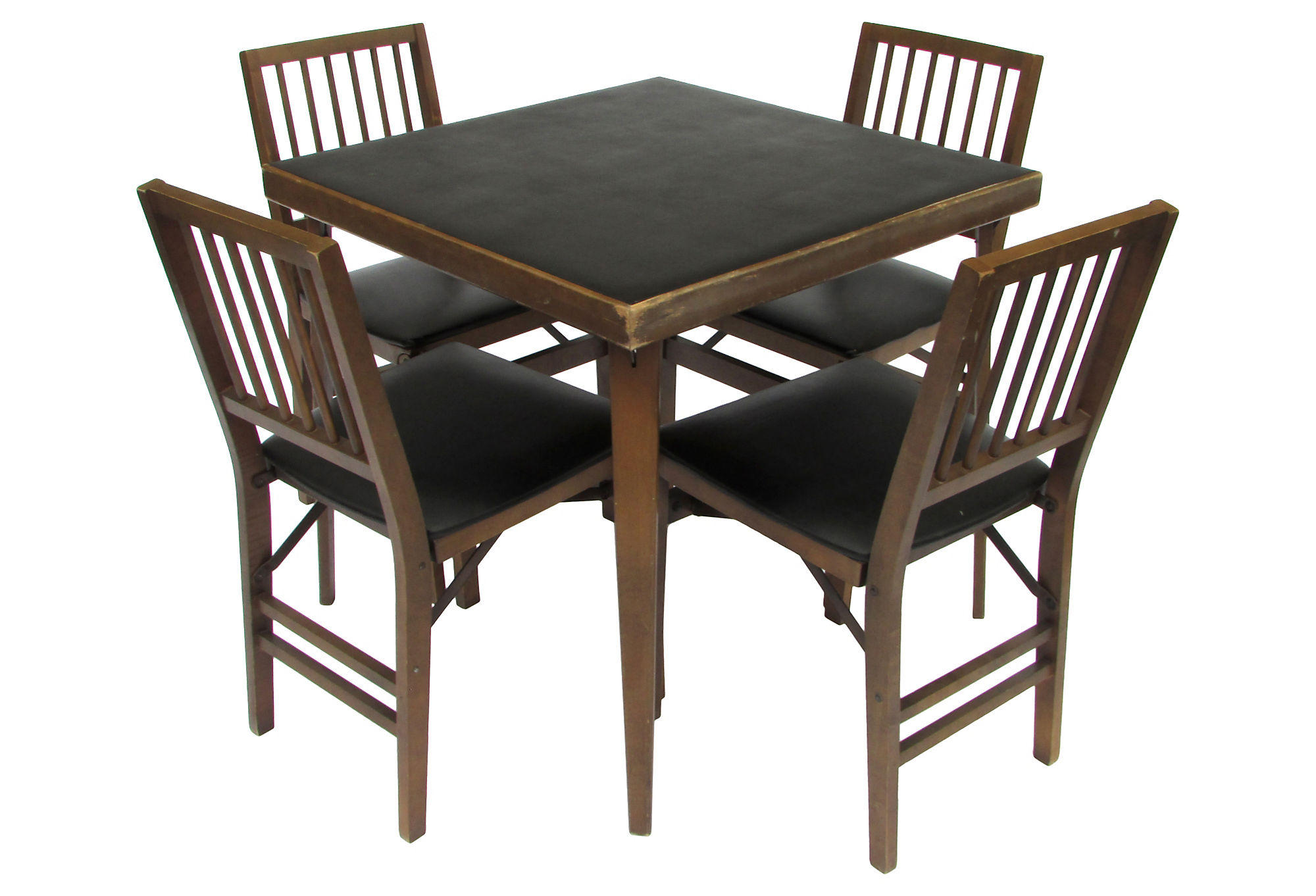Wooden Table And Chairs Wood Card Table And Chairs