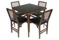 Wood Card Table w/ 4 Folding Chairs from One Kings Lane ...