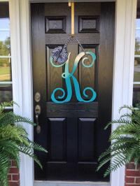 Initial monogram front door wreath / from housesensations