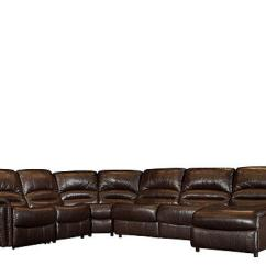 Leather Full Size Sleeper Sofa Cushion Material Types Mason 5-pc. Leather-match Power Reclining From Raymour ...