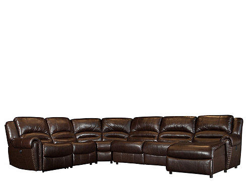 raymour and flanigan leather living room furniture sectional sofa bed mason 5-pc. leather-match power reclining from ...