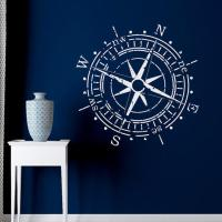Compass Rose Wall Decal Vinyl Sticker from FabWallDecals ...