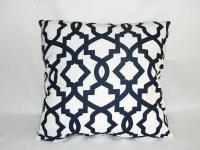 Decorative Pillows, Navy Blue and White from ...