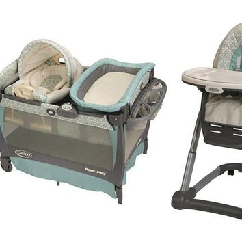 graco winslet high chair patio bar height chairs stroller, car seat, pack n from amazon