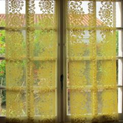 French Lace Kitchen Curtains Ideas On A Budget Hatched In France Wanelo Yellow Rose Panels Pair