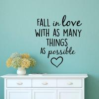 Love Wall Decal Quotes Fall In Love With from FabWallDecals on