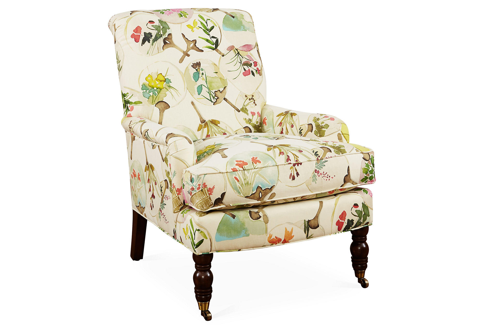 Floral Chairs Abigail Floral Accent Chair Beige Multi From One Kings Lane