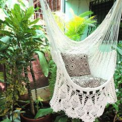 White Bohemian Hanging Chair Black Pub Table And Chairs Beige Sitting Hammock From Hamanica On Etsy Natural Cotton Wood Plus Presidential Fringe