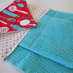 Towel For Kitchen Rustic Wood Table Best Hanging Towels With Buttons Products On Wanelo Button Top Dish Quilted Turquois