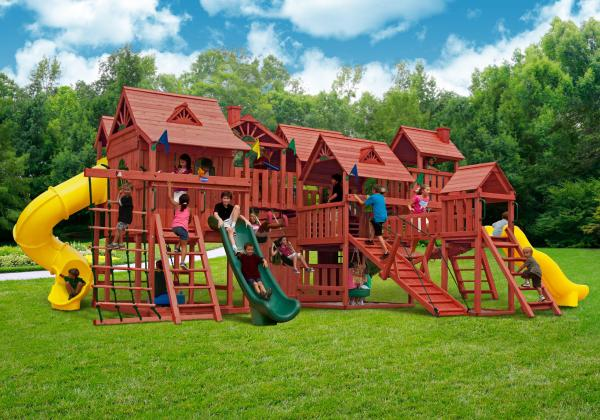 Gorilla Playsets Metropolis Wooden Play Nj Swingsets