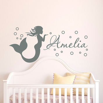 mermaid wall decal girl