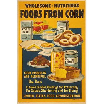 vintage posters for kitchen small table 2 best products on wanelo corn ad poster collectors baked goods a