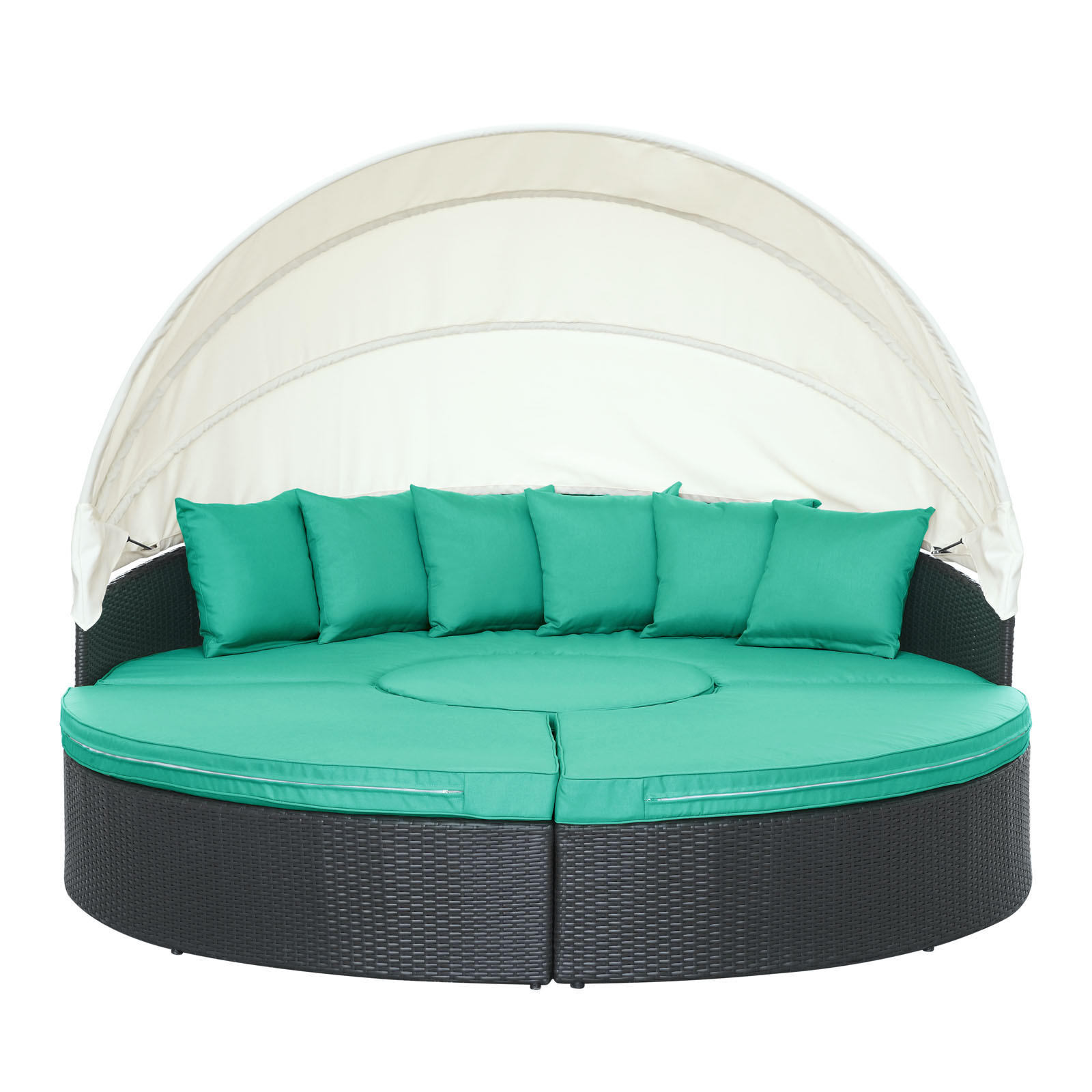 Quest Canopy Outdoor Patio Daybed in from Contemporary