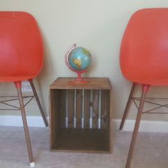 Orange Bucket Chair Sleeper Sofa Twin Shop Vintage Chairs On Wanelo Two Mid Centruy Red Eames Era Style Molded Shell