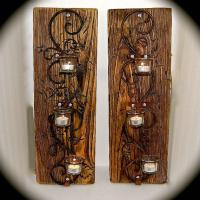Handmade Reclaimed Wood Sconce Pair - 3 from BeachDazzled ...
