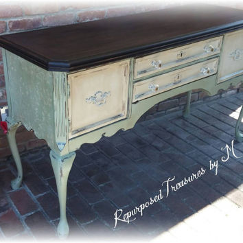 painted queen anne sofa table ikea sleeper shop tables on wanelo buffet sideboard distressed console