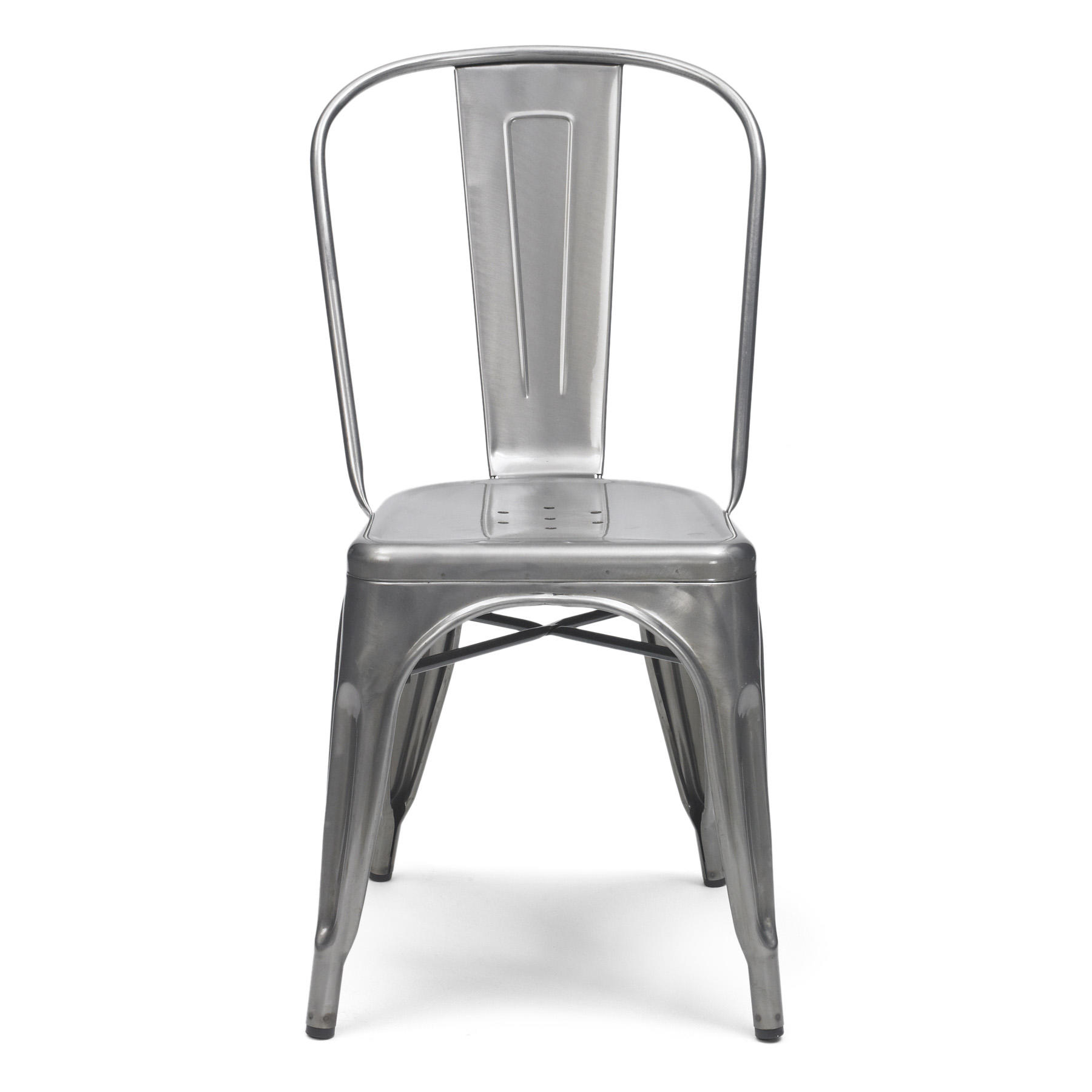 tolix side chair kneeling office chairs xavier pauchard style gun metal from rainbowtrunk