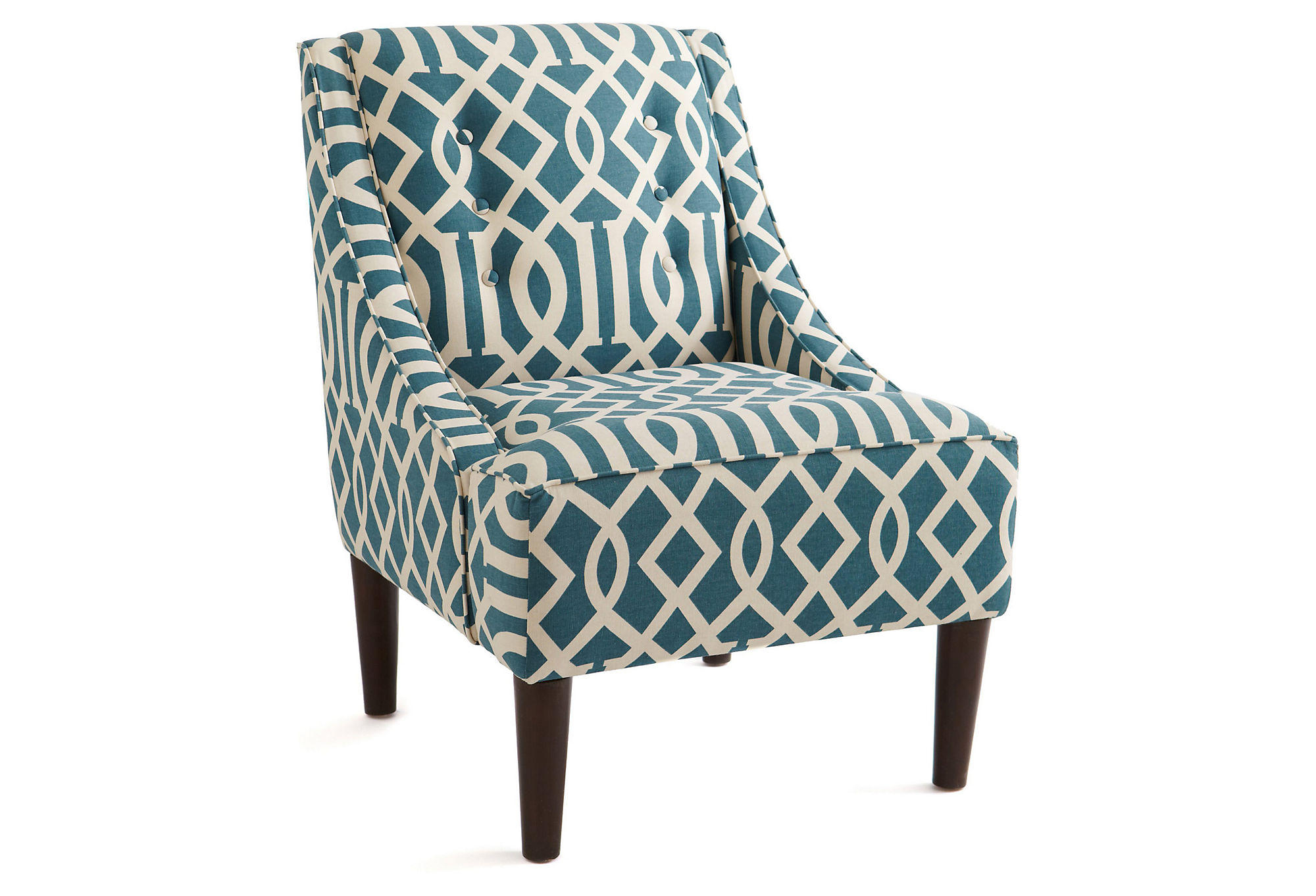 one kings lane chairs desk chair decorative mccarthy swoop arm teal accent and from