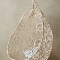 Knotted Melati Hanging Chair by from Anthropologie | Home